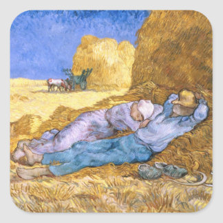 Noon, or The Siesta, after Millet, 1890 Sticker