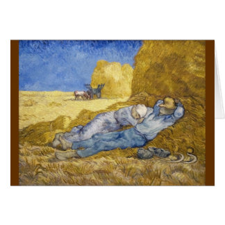 Noon - Rest from Work (after Millet) Card