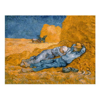 Noon, Rest From Work After Millet Vincent Van Gogh Postcard