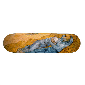 Noon, Rest From Work After Millet Vincent Van Gogh Skate Board Deck