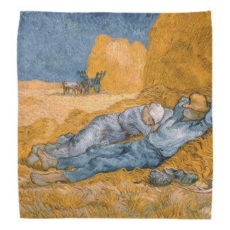 Noon – Rest from Work by Vincent Van Gogh Bandana