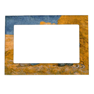 Noon – Rest from Work by Vincent Van Gogh Magnetic Picture Frame