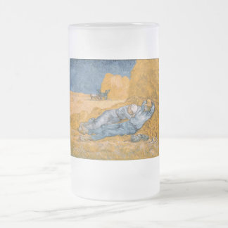 Noon – Rest from Work by Vincent Van Gogh Glass Beer Mugs