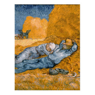 Noon – Rest from Work by Vincent Van Gogh Postcard