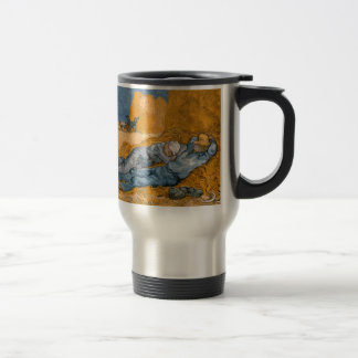Noon – Rest from Work by Vincent Van Gogh Travel Mug