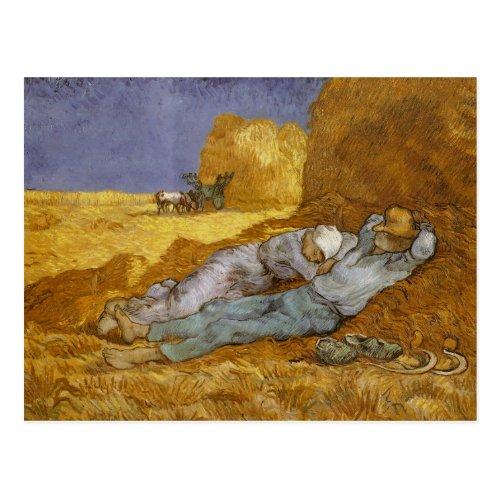 Noon Rest from Work Millet Van Gogh Fine Art Postcard