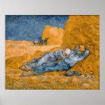 Noon, rest from work. Poster XXL Vincent Van Gogh