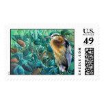 """""""Noon Siesta-Great Blue Heron"""" Postage Stamps"""