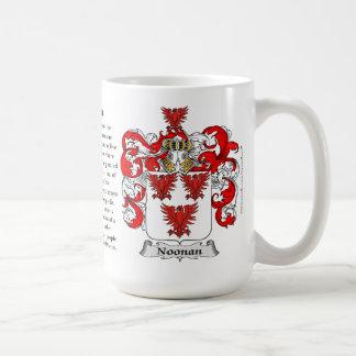 Noonan, el origen, el significado y el escudo taza de café