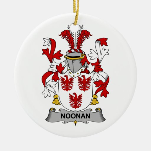Noonan Family Crest Christmas Tree Ornaments