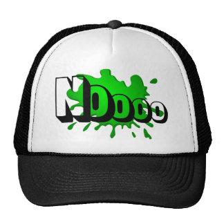 Noooo green splash trucker hat