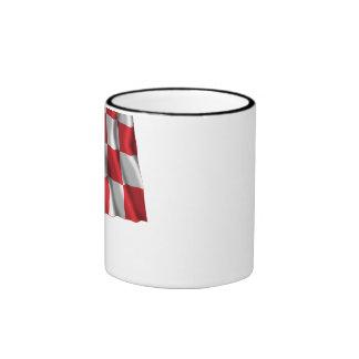 Noord-Brabant Waving Flag Ringer Mug