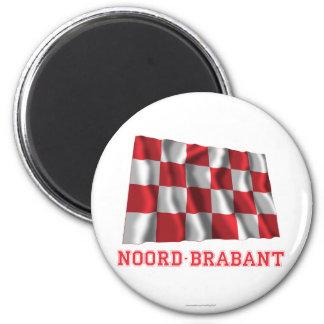 Noord-Brabant Waving Flag with Name Fridge Magnet