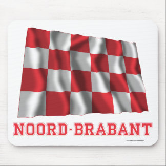Noord-Brabant Waving Flag with Name Mouse Pad