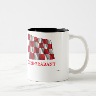 Noord-Brabant Waving Flag with Name Two-Tone Coffee Mug