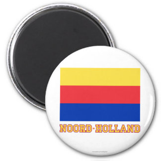 Noord-Holland Flag with name Magnet