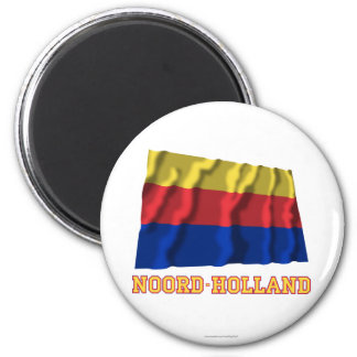 Noord-Holland Waving Flag with Name Fridge Magnets