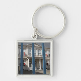 Noordeinde Palace Silver-Colored Square Keychain