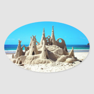 Noosa Beach Sandcastle Sticker