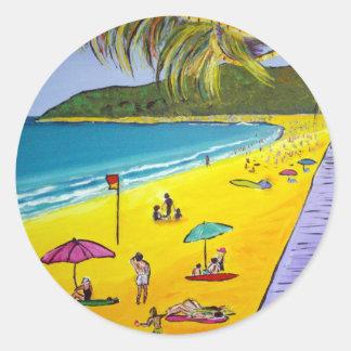 Noosa Beach Round Stickers