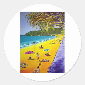 Noosa Beach Round Sticker