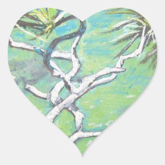 Noosa Pandanas Heart Sticker