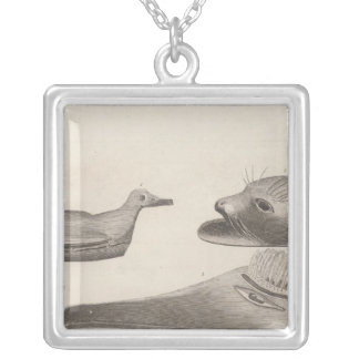 Nootka articles, British Columbia Silver Plated Necklace