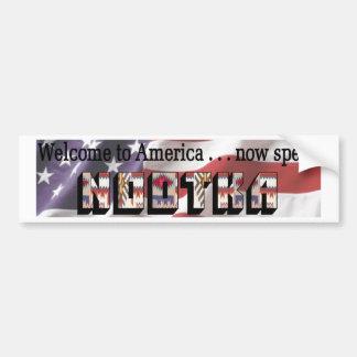 Nootka Bumper Sticker