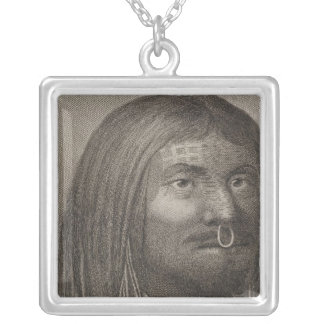 Nootka Man, British Columbia Silver Plated Necklace