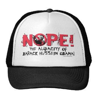 Nope Anti Obama Gear '08 Trucker Hat