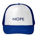 Nope Baseball Cap Hat