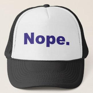 Nope Blue Design Trucker Hat
