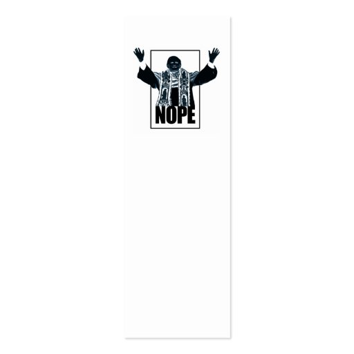 Nope Bookmark Business Cards