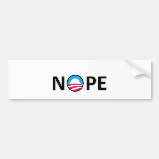 nope bumper sticker
