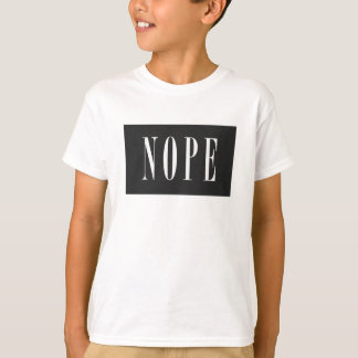 NOPE - Caja negra blanca Playera