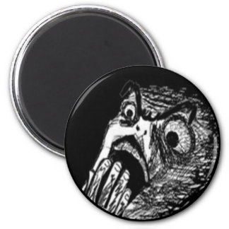 Nope comic face 2 inch round magnet