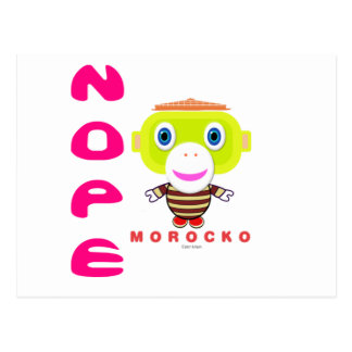Nope-Cute Monkey-Morocko Postcard
