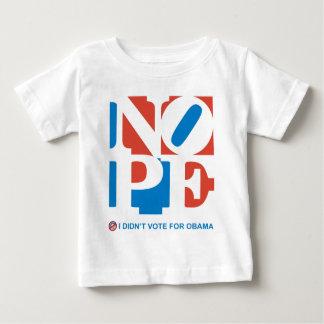 NOPE - I DIDN'T VOTE FOR OBAMA Toddler T-shirt