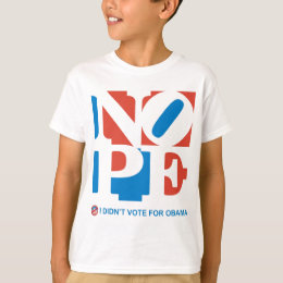 NOPE - I DIDN'T VOTE FOR OBAMA Youth T-shirt