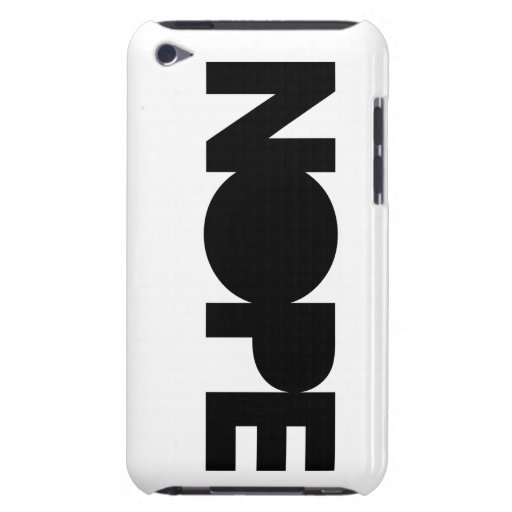 NOPE iPod TOUCH FUNDA