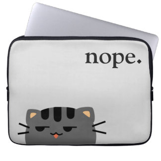 Nope Kitty Computer Sleeve