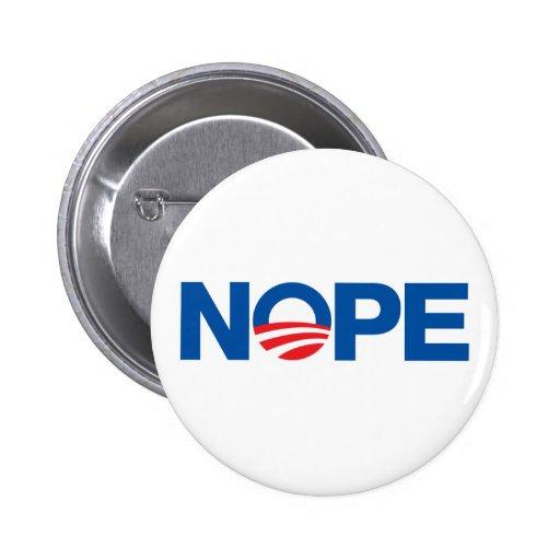 Nope Obama Pins