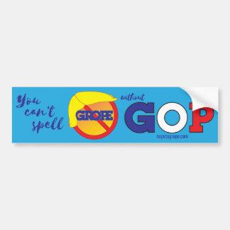 NOPE to GROPE Orange Menace Bumper Sticker 1