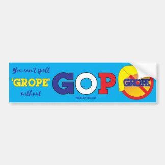 NOPE to GROPE Orange Menace Bumper Sticker 2