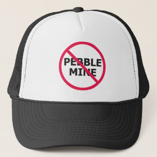NoPebbleMine Transparent background copy Trucker Hat