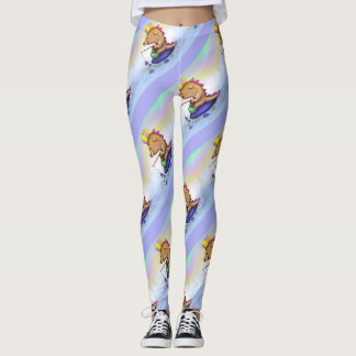 NOPNOP CUTE ALIEN GYMNASE CUTE CARTOON LEGGINGS