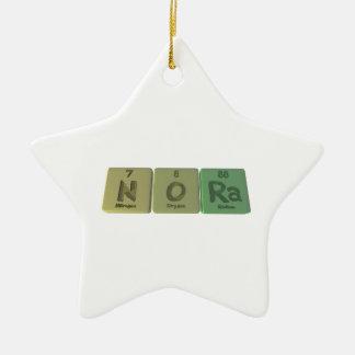 Nora as Nitrogen Oxygen Radium Christmas Tree Ornament