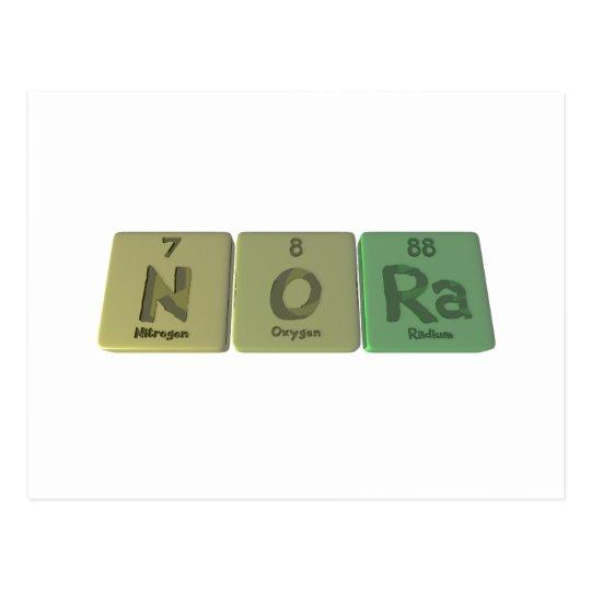Nora as Nitrogen Oxygen Radium Postcard