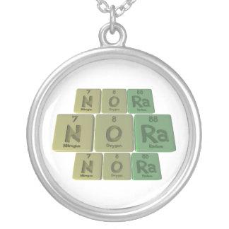 Nora as Nitrogen Oxygen Radium Silver Plated Necklace