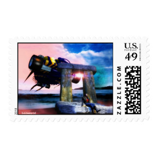 NORA, BACK TO THE FUTURE ,Science Fiction,Sci-Fi Postage Stamp
